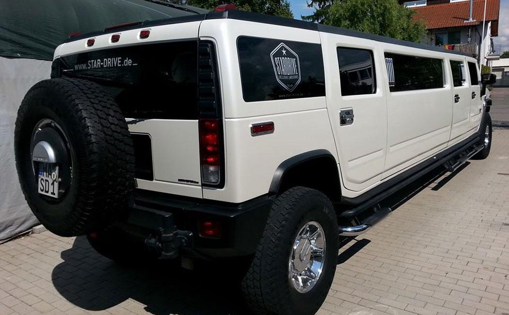 hummer h2 limousine mieten stardrive. Black Bedroom Furniture Sets. Home Design Ideas
