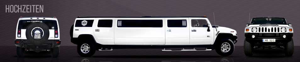 Hummer H2 Stretch-Limousine in Perlmutt-Weiss