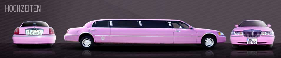 Lincoln Stretch-Limousine in Pink